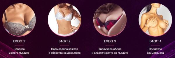 effets, élargissement de la crème, seins, buste